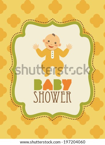 baby shower card. vector illustration - stock vector