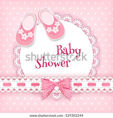 Baby shower card. Vector illustration. - stock vector