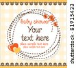 baby shower card with hearts - stock vector