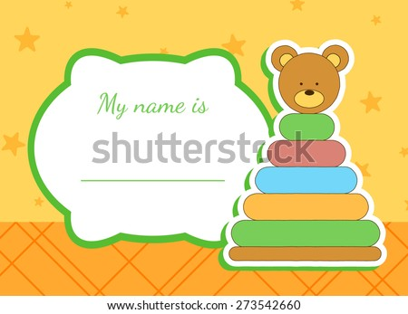 baby shower card with submarine - stock vector