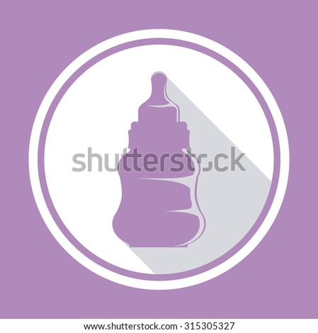 Baby shower concept, welcome to the birth icons design, vector illustration eps 10