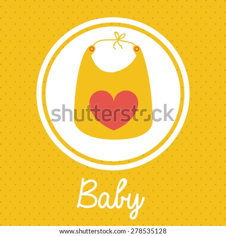 Baby Shower design over yellow background, vector illustration - stock vector
