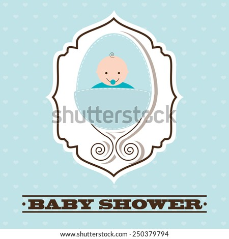 baby shower design vector illustration eps10 graphic