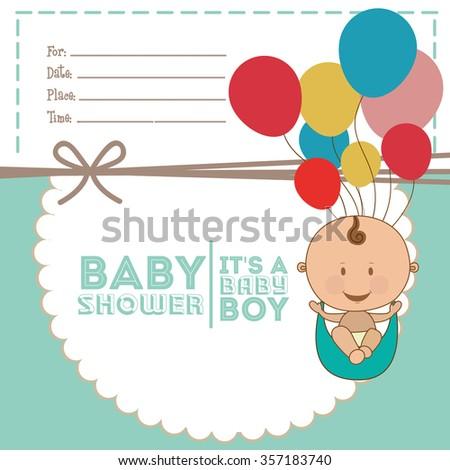 baby shower design, vector illustration eps10 graphic  - stock vector