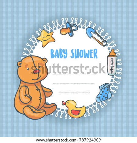 Baby Shower Frame Illustration
