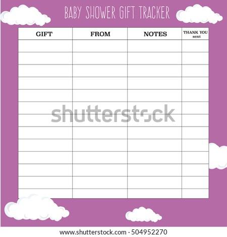 baby shower gift tracker