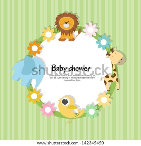 baby shower invitation - stock vector