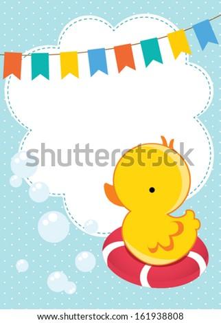 Baby shower invitation card - stock vector
