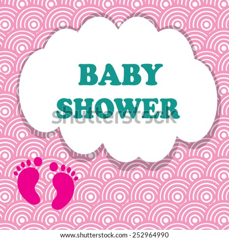 baby shower invitation card editable with type font