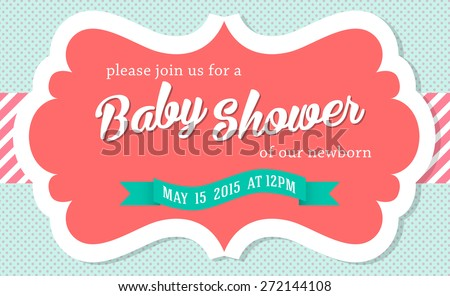Baby Shower Invitation Card Editable Type Vector 135110846 – Editable Baby Shower Invitations