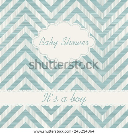 """Baby shower invitation """"It's a boy"""" - stock vector"""