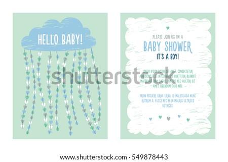 Baby shower invitation template boy vector stock vector 549878443 baby shower invitation template for boy vector filmwisefo