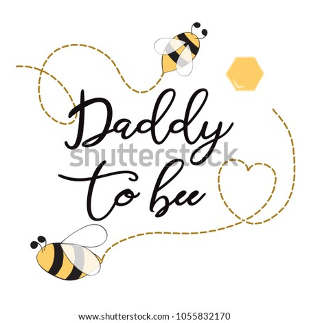 Baby shower invitation template text daddy stock vector hd royalty baby shower invitation template with text daddy to bee decorated bee heart cute card filmwisefo