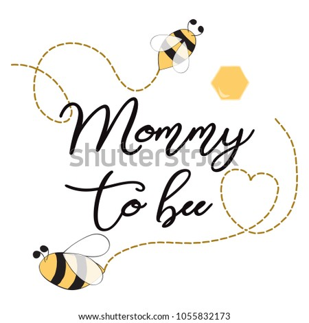 Baby shower invitation template text mommy stock vector royalty baby shower invitation template with text mommy to bee decorated bee heart cute card filmwisefo
