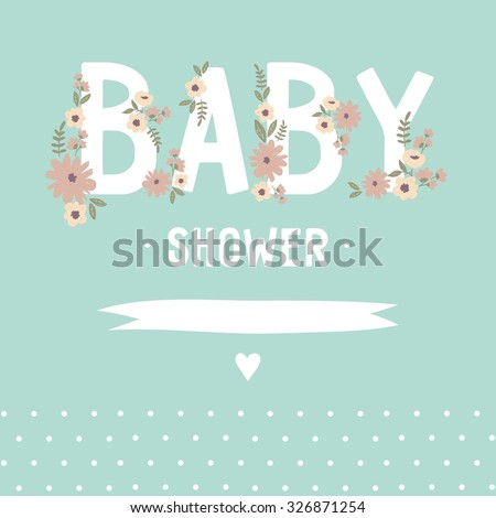 Baby Shower invitation vector design - stock vector