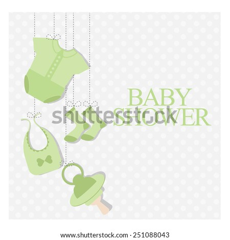 Baby Shower Invitation. vector illustration