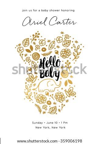 Baby Shower Invite Design - stock vector