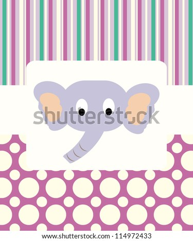 Baby shower with funny animals/ Vector illustration
