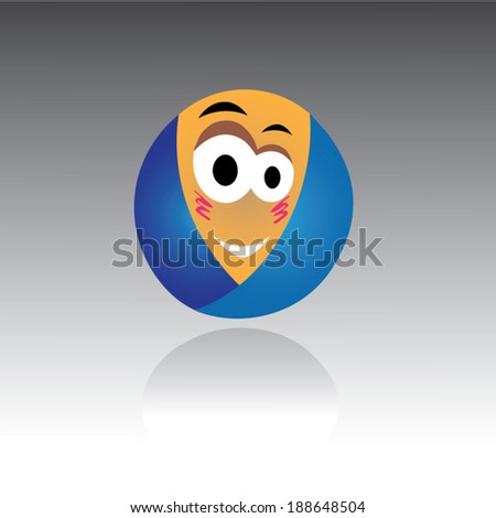 Baby smile - stock vector