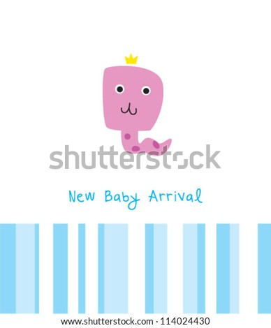 baby snake boy new arrival - stock vector