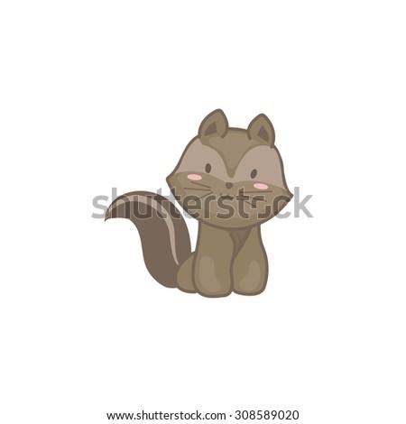 Baby Squirrel - stock vector