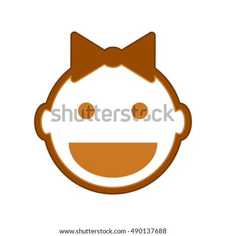 Baby symbol icon on white background. Vector illustration.