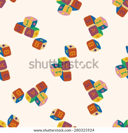 baby toy , cartoon seamless pattern background