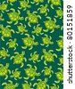 baby turtle pattern - stock vector
