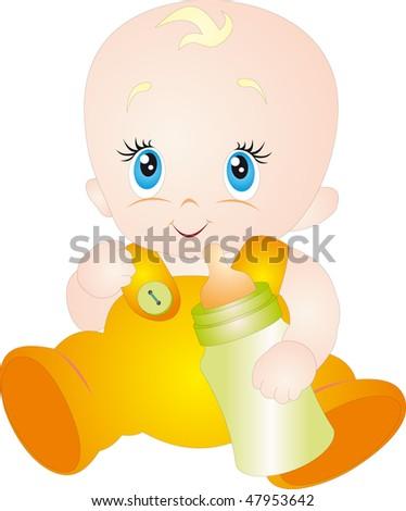 Baby vector - stock vector