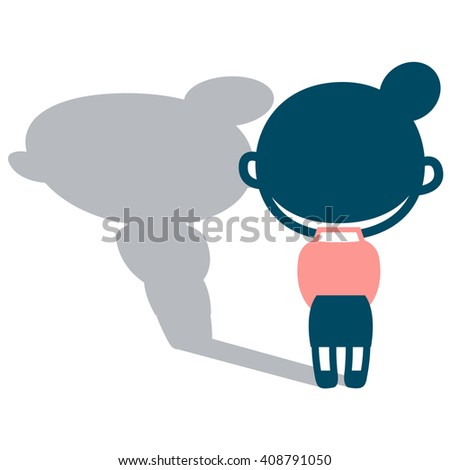 Back figure of melancholy woman - stock vector