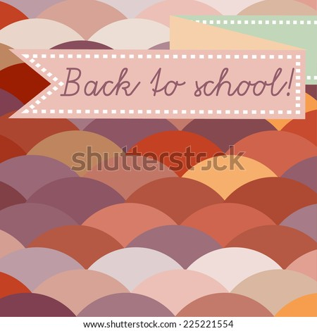 back to school abstract card