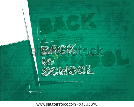 back to school background - stock vector