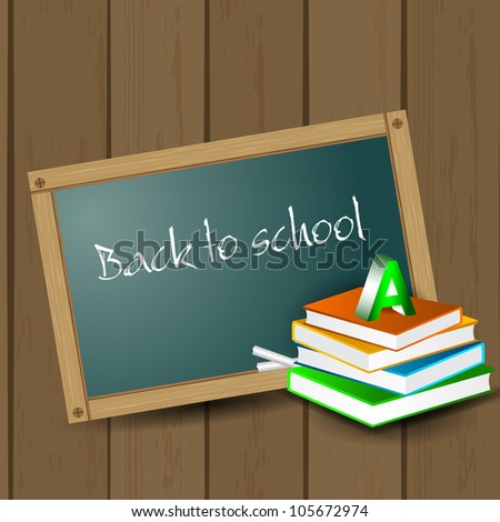 Back to school background. EPS 10. - stock vector