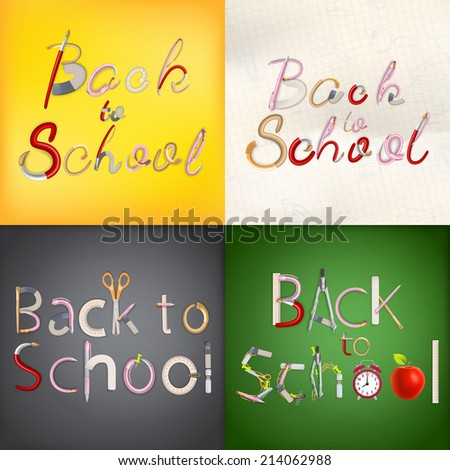 Back to school background. EPS 10 vector file included - stock vector