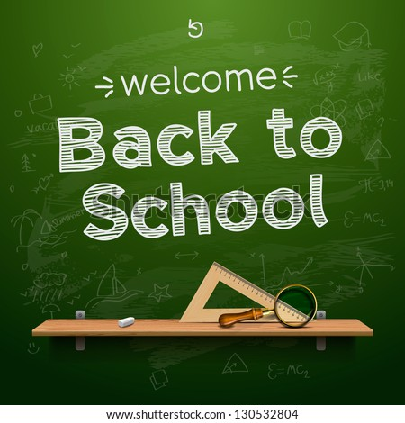 Back to school background, vector illustration. - stock vector