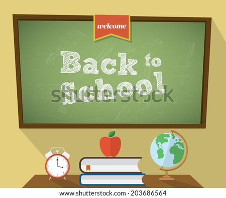 Back to school background. Vector illustration - stock vector