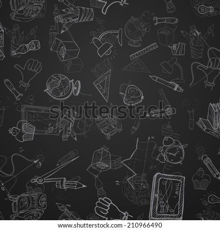Back To School Background. Vector illustration. Eps 10 - stock vector