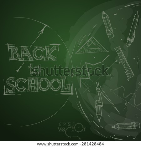 Back To School Background. Vector illustration. Eps 10