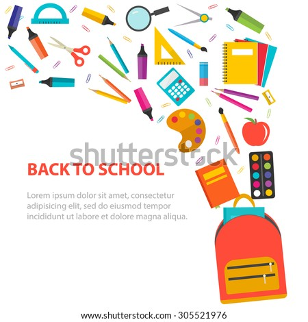 back to school vector - photo #43