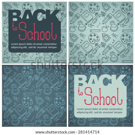 back to school backgrounds - stock vector