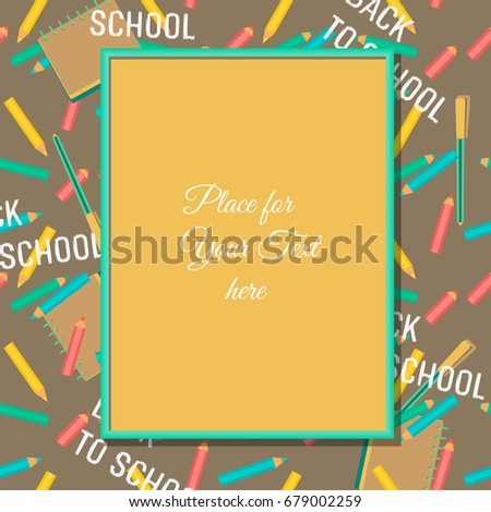 Back school banner concept template welcome stock vector 679002259 back to school banner concept template for welcome poster with frame for text colorful thecheapjerseys Gallery