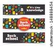 Back to school banners set. Vector Illustration, eps10, contains transparencies. - stock