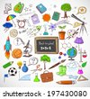 Back to school big doodles set  - stock
