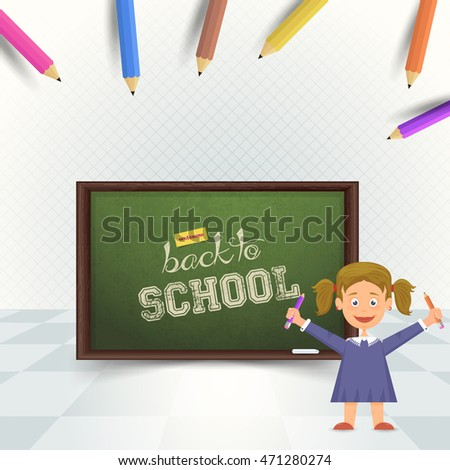 Back to School Black Board Vector Background