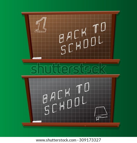 Back to school board vector background