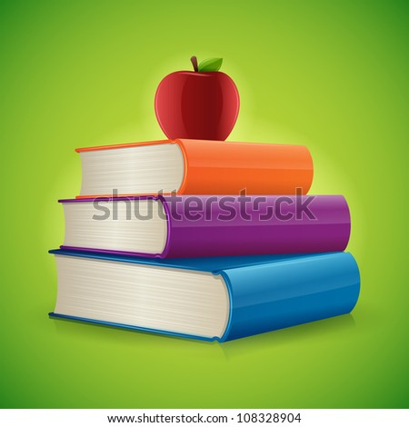 Back to school Books - stock vector