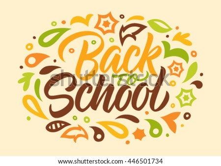 back to school, calligraphy, handwritten text, pattern