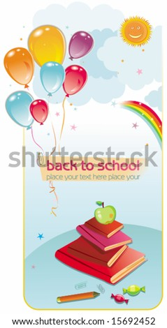 Back to school card. To see similar, please VISIT MY GALLERY.