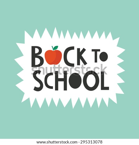 back to school card. vector illustration - stock vector