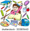 Back to school collection 3 - vector illustration. - stock vector
